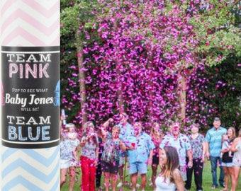 Team Pink vs Team Blue Gender Reveal Confetti Cannon | Gender Reveal|Gender Reveal Ideas| Touchdowns or Tutus| Confetti Popper| Confetti