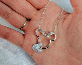 PRE-ORDER 6Wks Two Mice in Silver Necklace