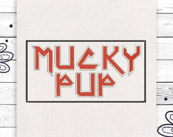 Mucky pup Discount 10% Digital embroidery design 4 sizes INSTANT DOWNLOAD EE5124