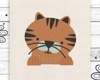 Cat embroidery Kids embroidery Digital embroidery design 3 sizes Cute little cat Embroidery for kids INSTANT DOWNLOAD EE5190