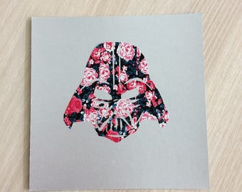 Star Wars Darth Vader flowers card