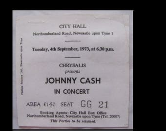 Johnny Cash 1973 Any Old Wind That Blows UK Tour Concert Ticket VG+ FREE S+H