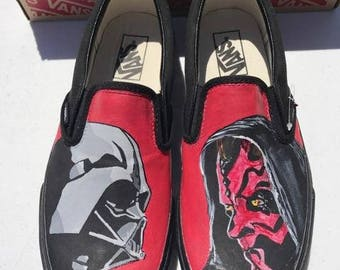 Classic slip on Star wars Darth Vader and Darth maul