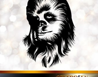Chewbacca Silhouette, artist silhouettes, celebrity silhouette, famous people