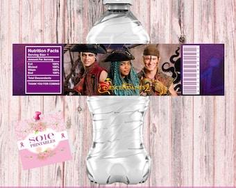 UMA WATER LABELS - Descendants 2 Water Bottle labels!!!! Instant Download!