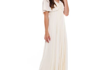 Original 1970s Cream Wedding Dress
