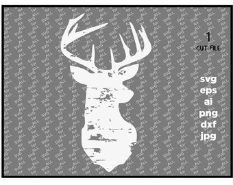 Deer svg, grunge svg, Fall svg, SVG, thanksgiving svg, Winter SVG, Buck, Digital Download, clip art, commercial use, distressed, dxf, eps