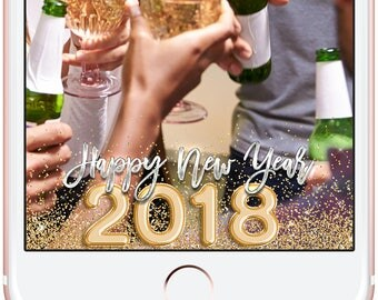 Instant Download New Years 2018 Geofilter, Happy New Year, New Years Eve Party, Party Geofilter, New Years Party Geofilter