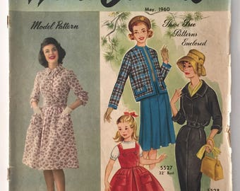 May 1960 Australian Home Journal - Featuring Sewing, Knitting, Recipes, Home Decor, Stories - Free Patterns Included - Free Aust Post