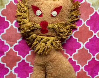1960's or 1950's Handmade Stuffed Lion