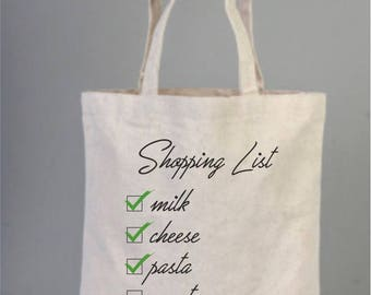 Market bag, market tote, market tote bag, shopping bag, everyday bags, cotton bags, tote bags, check list, cotton tote, shopping list