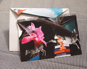 Collage Letter Card: Industrial Pasture