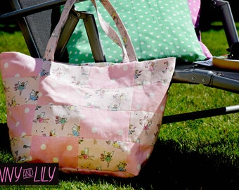 Shabby Chic Ballet Pink Fairies Patchwork Bag