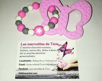 """Butterfly"" silicone teething ring"