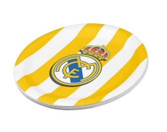 Real Madrid Paper Plates | Cute Plates for Birthdays | 8 Pack