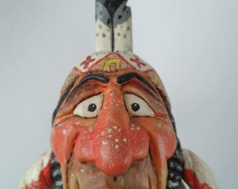 Leader of the native Americans - a figure for decorating your house's interior.