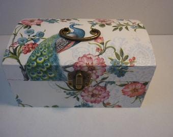 """Box coffreta """"Majestic Peacock"""" romantic jewelry"""