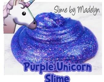 Purple Unicorn Glitter Slime ~ Unicorn slime ~ Glitter Slime