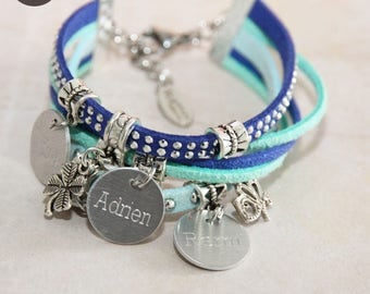 "Bracelet personalized with names ""Basic"" Mint"