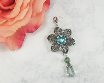 Flower Planner Charm/ Planner Charms/ Midori Charms/ Planner Clips/ Travelers Notebook Charms