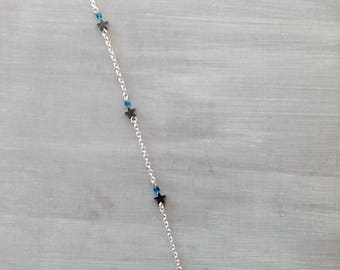 Blue anklet chain and Star