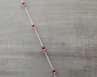 Red ankle chain