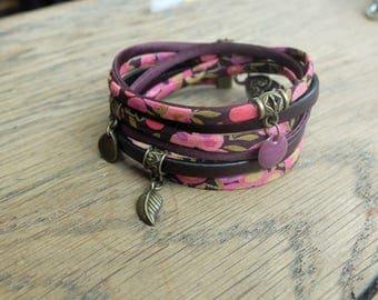 Plum floral bracelet
