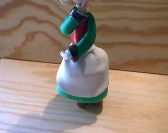 Decorative figurine: pensive Pollyanna of cold porcelain
