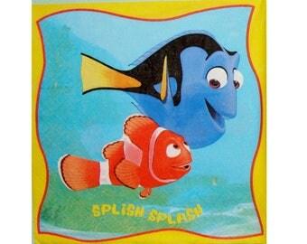 Set of 3 napkins ENF002 Nemo, Dory, sailor