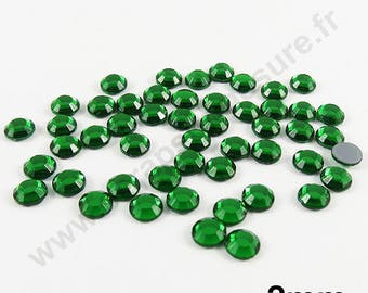 Rhinestone Thermo - Pine Green - 2mm - x 200pcs