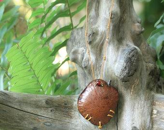 Amazon seed Tibetan Tiger necklace