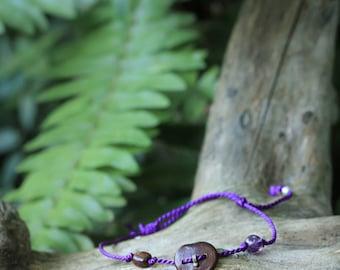 Amazon seed Amethyst bracelet