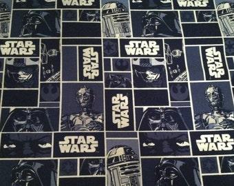 Star Wars (blue) fabric by the half yard