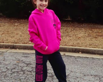 Pink and Black Blood Sweat Cheer Sweatsuit