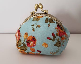 "Coin purse ""Blue"" flower"