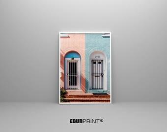 Abstract Print, Door Photography Wall Art, Modern Minimalist Painting, Home Decor, Urban Print, Printable Digital Download, Large Poster