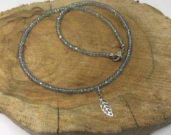 Minimalist Silver Leaf Choker Necklace