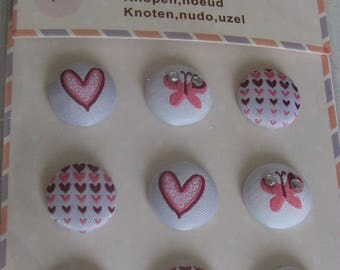 9 decorations fabric buttons
