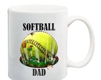Softball is life eruption softball coffee mug,I love softball coffee mug, softball dad coffee mug, softball mom coffee mug, softball mug