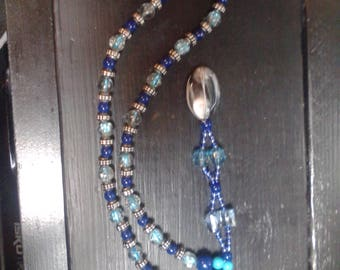 Blue and Silver Pebble Necklace