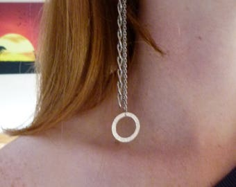 3 chain drop earrings, Chain earrings, Chain dangle earrings, Silver chain earrings, Silver 3 chain, Vintage, Steampunk earrings