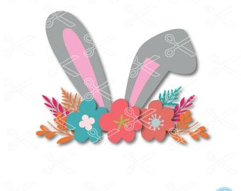 Easter SVG, PNG, DXF, Eps Cutting Files, Rabbit Svg, Rabbit Face Svg, Girl Easter Svg, Bunny Svg, Easter Bunny Svg, Kids Easter Svg Cut File