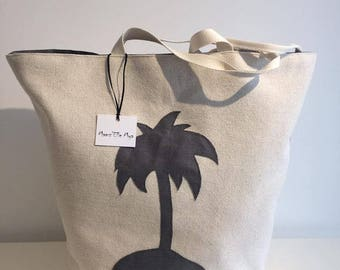 TROPICAL Palm tree design beach bag