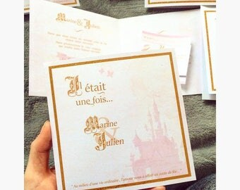 Disney Princess wedding invitation