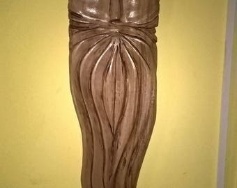 Handcrafted wood carving