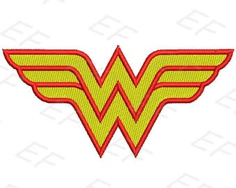 Machine Embroidery design - Wonder woman Embroidery design - instant download digital file
