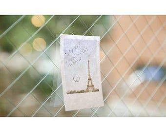 Polaroid Paris Sticky Notes sticker Eiffel