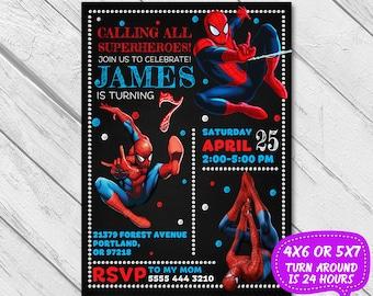 Spiderman Invitation, Spiderman birthday, Spiderman party, Spiderman birthday invitation, Spiderman invite, Spider man, Printable Spiderman