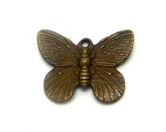bronze colored metal Butterfly charm