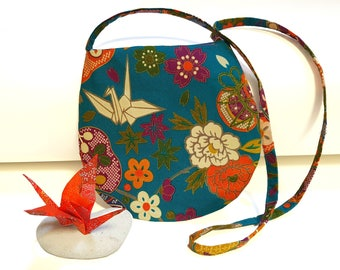 Japanese fabric shoulder bag purse